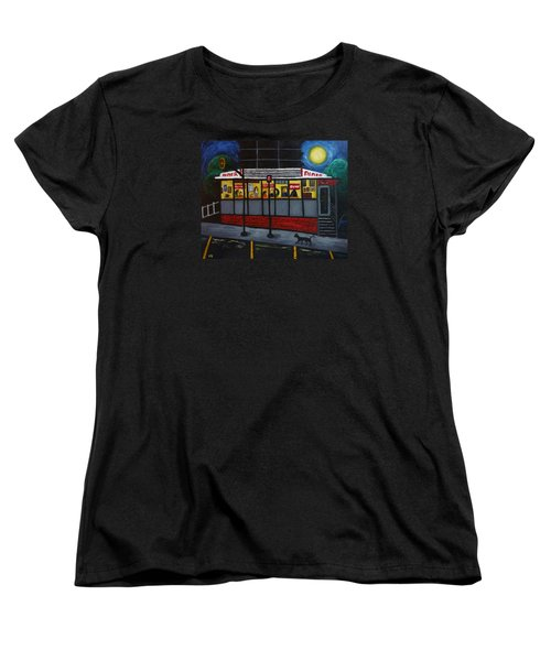 Night At An Arlington Diner Women's T-Shirt (Standard Cut) by Victoria Lakes