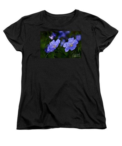 Night Garden Women's T-Shirt (Standard Cut) by Linda Bianic