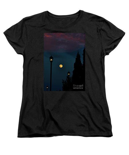 Night Lights Women's T-Shirt (Standard Cut) by Lydia Holly