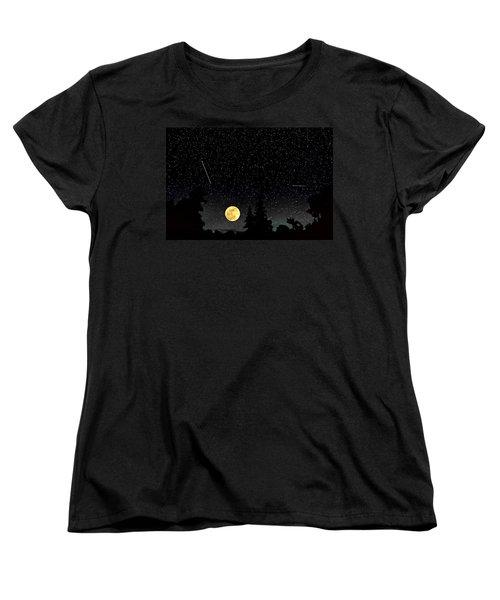 Night Moves Women's T-Shirt (Standard Cut) by Steve Harrington