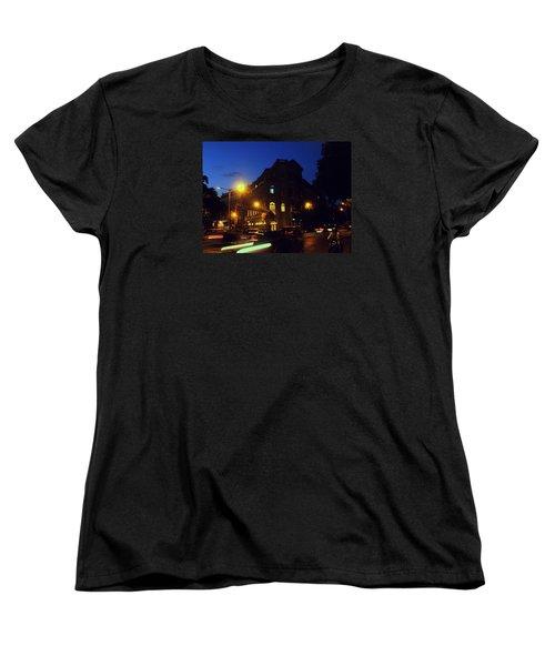 Women's T-Shirt (Standard Cut) featuring the photograph Night View by Salman Ravish