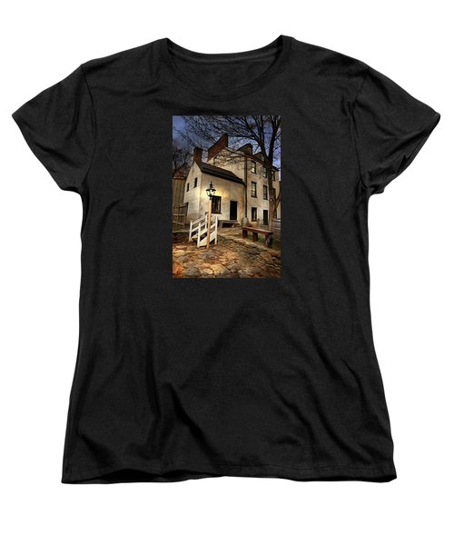 Women's T-Shirt (Standard Cut) featuring the digital art Night Watchman by Mary Almond