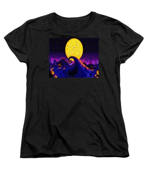 Nightmare Before Christmas Women's T-Shirt (Standard Cut) by Joe Misrasi