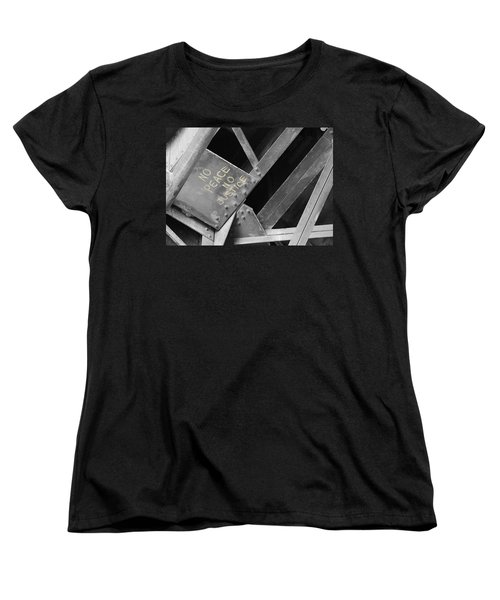 Women's T-Shirt (Standard Cut) featuring the photograph No Peace No Justice by Patricia Babbitt