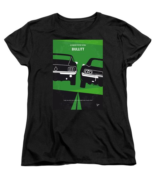 No214 My Bullitt Minimal Movie Poster Women's T-Shirt (Standard Cut)