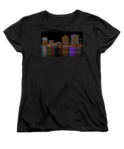 Norfolk Virginia Skyline Women's T-Shirt (Standard Cut) by Jerry Gammon