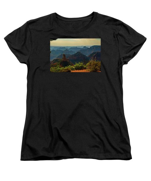 Women's T-Shirt (Standard Cut) featuring the photograph North Rim Grand Canyon Imperial Point by Bob and Nadine Johnston