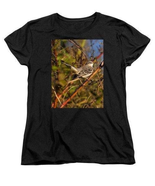 Northern Mockingbird Women's T-Shirt (Standard Cut) by Chris Flees
