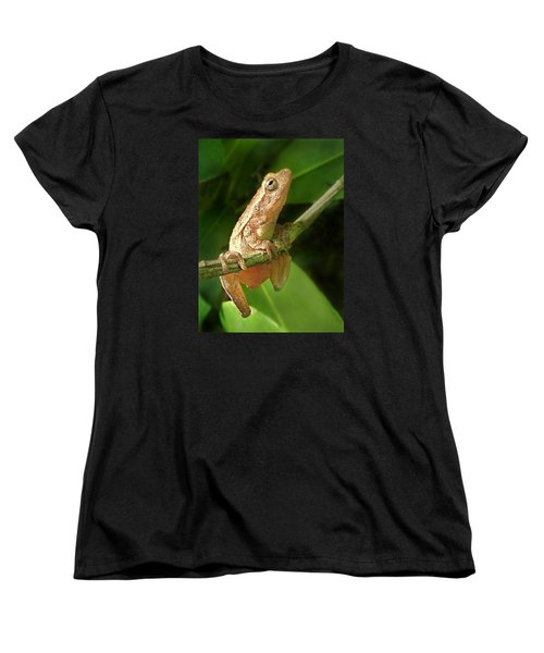Women's T-Shirt (Standard Cut) featuring the photograph Northern Spring Peeper by William Tanneberger