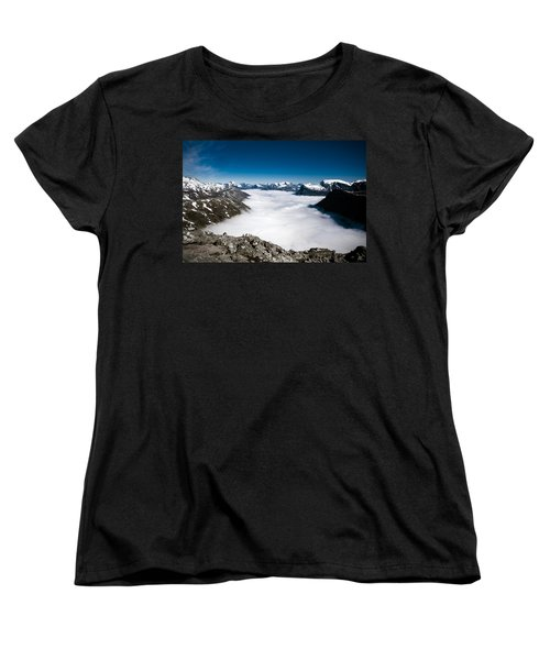 Norway In The Clouds Women's T-Shirt (Standard Cut) by Bill Howard