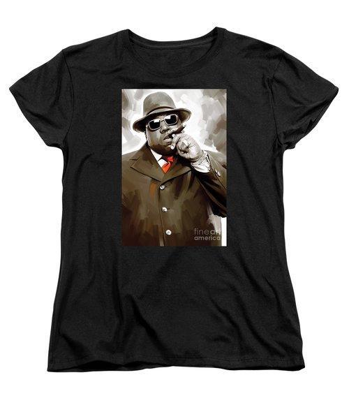 Notorious Big - Biggie Smalls Artwork 3 Women's T-Shirt (Standard Cut) by Sheraz A