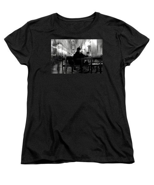 Women's T-Shirt (Standard Cut) featuring the photograph Notre-dame Paris by Danica Radman