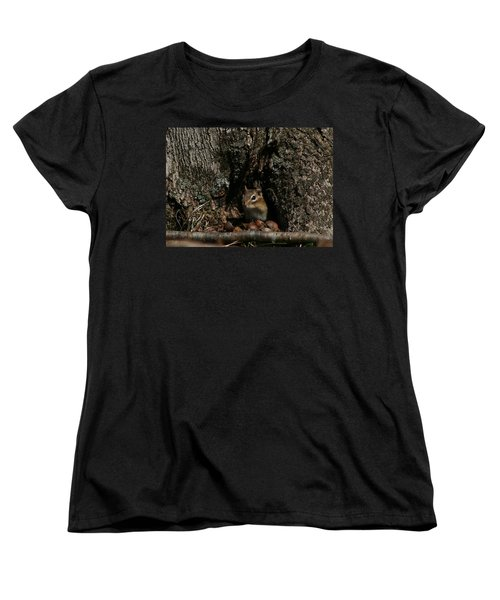 Women's T-Shirt (Standard Cut) featuring the photograph Nut Therapy  by Neal Eslinger