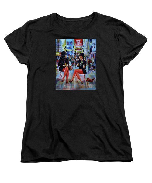 Nyc Red Chairs Women's T-Shirt (Standard Cut) by Anna  Duyunova