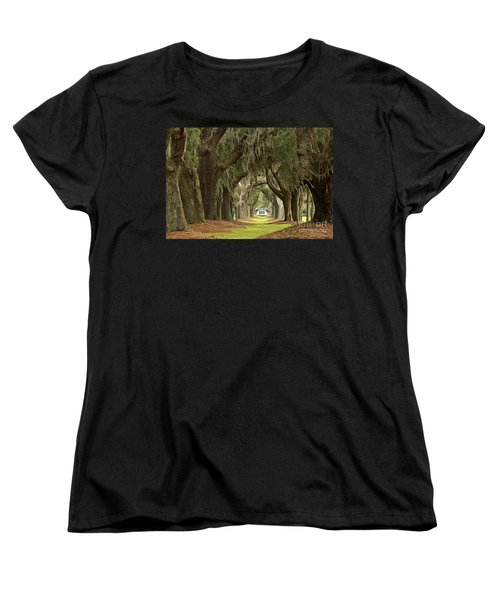 Oaks Of The Golden Isles Women's T-Shirt (Standard Cut) by Adam Jewell