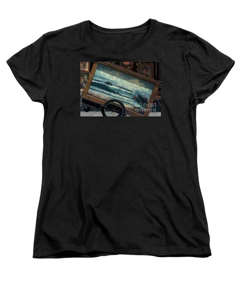 Women's T-Shirt (Standard Cut) featuring the photograph Ocean On Wheels Artist Cart At Jackson Square New Orleans La Usa by Michael Hoard