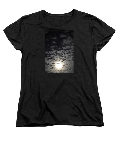 Women's T-Shirt (Standard Cut) featuring the pyrography October Moon by Joel Loftus