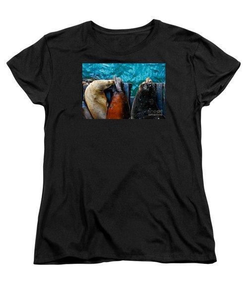 Odd Man Out California Sea Lions Women's T-Shirt (Standard Cut)