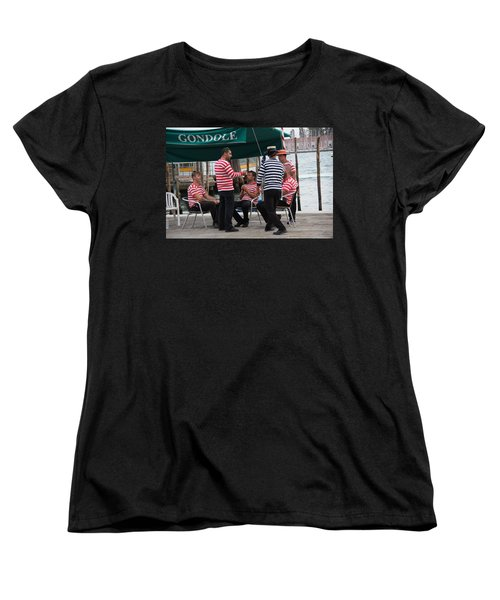 Off The Canal Women's T-Shirt (Standard Cut) by Debi Demetrion