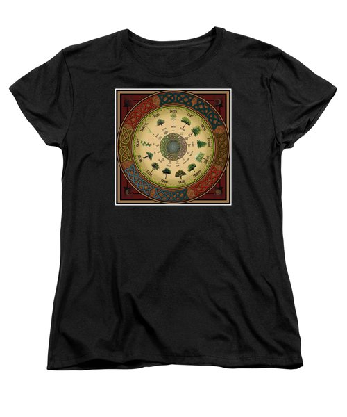 Ogham Tree Calendar Women's T-Shirt (Standard Cut) by Ireland Calling