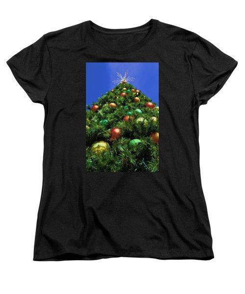 Oh Christmas Tree Women's T-Shirt (Standard Cut) by Kathy Churchman