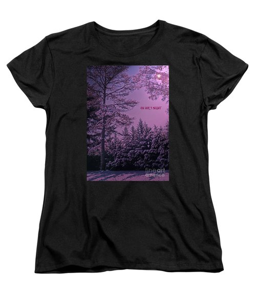 Oh Holy Night Women's T-Shirt (Standard Cut) by Lydia Holly