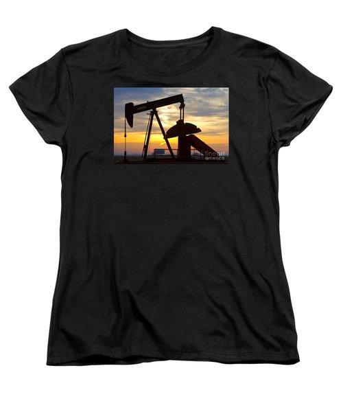 Oil Pump Sunrise Women's T-Shirt (Standard Cut) by James BO  Insogna