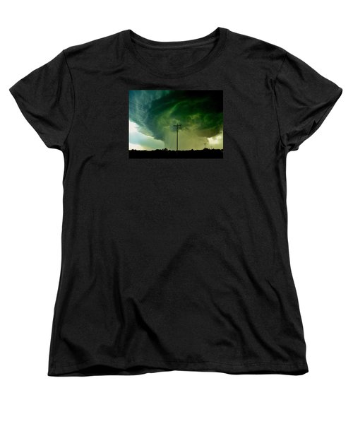Oklahoma Mesocyclone Women's T-Shirt (Standard Cut) by Ed Sweeney