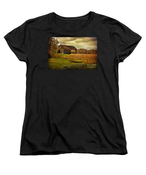 Old Barn In October Women's T-Shirt (Standard Cut) by Lois Bryan