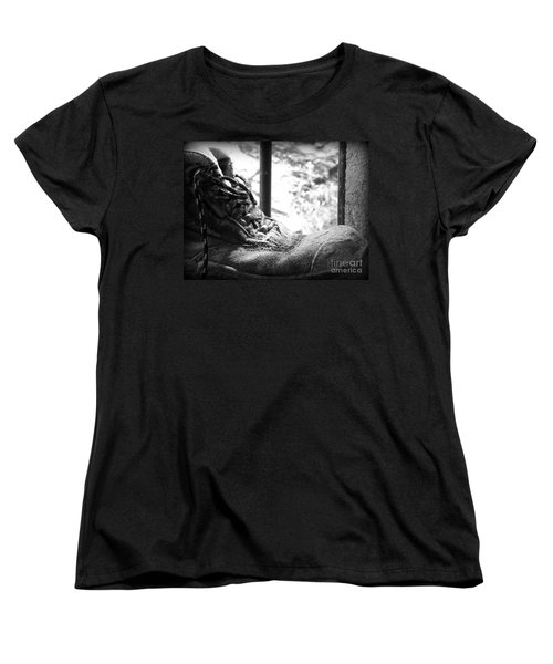 Women's T-Shirt (Standard Cut) featuring the photograph Old Boots by Clare Bevan