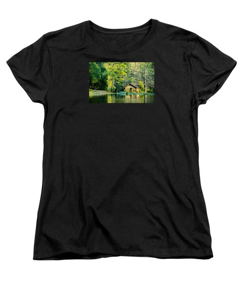 Old Cabin By The Pond Women's T-Shirt (Standard Cut) by Parker Cunningham