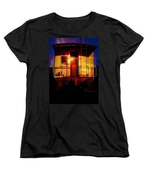 Old Caboose  Women's T-Shirt (Standard Cut) by Aaron Berg