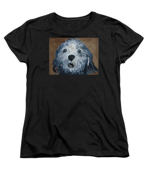 Women's T-Shirt (Standard Cut) featuring the painting Old Dogs Are The Best Dogs by Leslie Manley