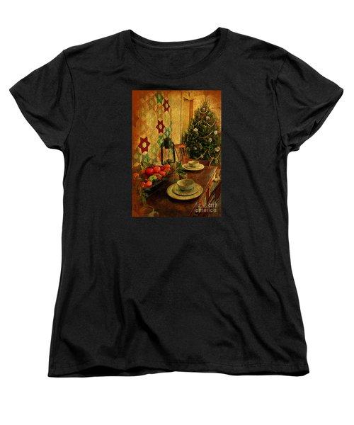 Women's T-Shirt (Standard Cut) featuring the photograph Old Fashion Christmas At Atalaya by Kathy Baccari