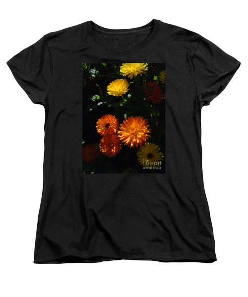 Women's T-Shirt (Standard Cut) featuring the photograph Old-fashioned Marigolds by Martin Howard