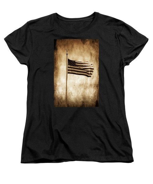 Women's T-Shirt (Standard Cut) featuring the photograph Old Glory by Aaron Berg