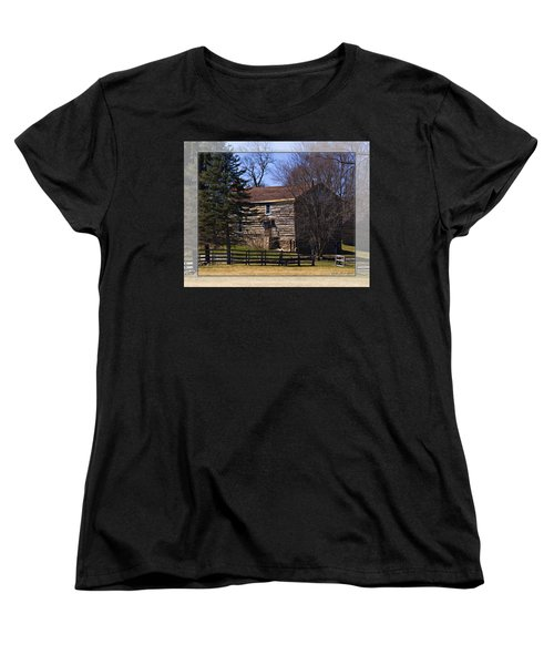 Old Log Home Women's T-Shirt (Standard Cut) by Walter Herrit