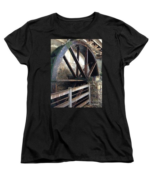 Women's T-Shirt (Standard Cut) featuring the photograph Old Mill Water Wheel by Jeannie Rhode