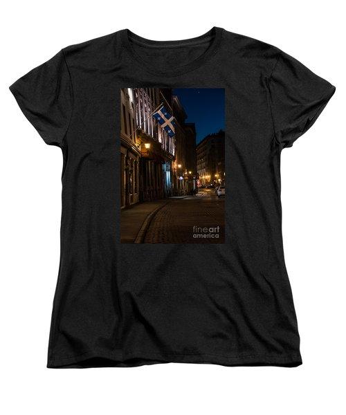 Old Montreal At Night Women's T-Shirt (Standard Cut) by Cheryl Baxter