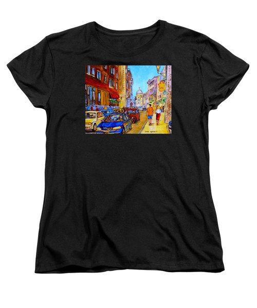 Old Montreal Women's T-Shirt (Standard Cut) by Carole Spandau