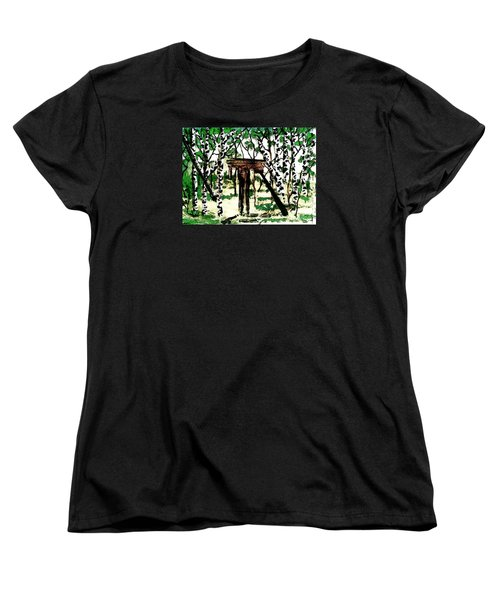 Old Obstacles Women's T-Shirt (Standard Cut) by Denise Tomasura