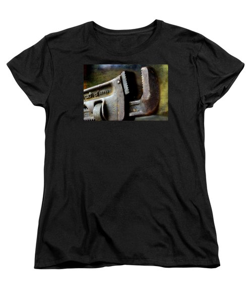 Old Pipe Wrench Women's T-Shirt (Standard Cut) by Michael Eingle