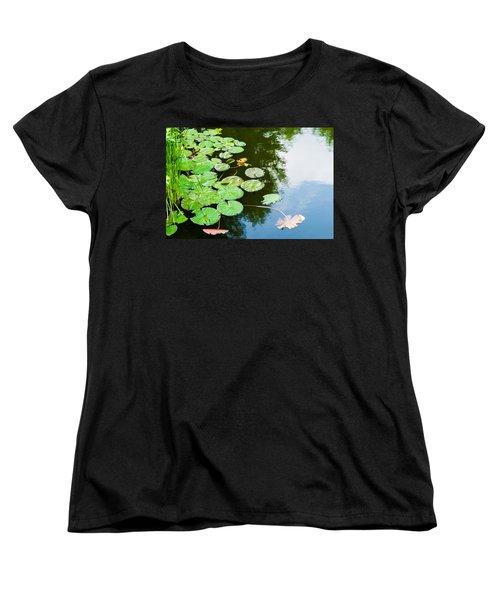 Old Pond - Featured 3 Women's T-Shirt (Standard Cut) by Alexander Senin