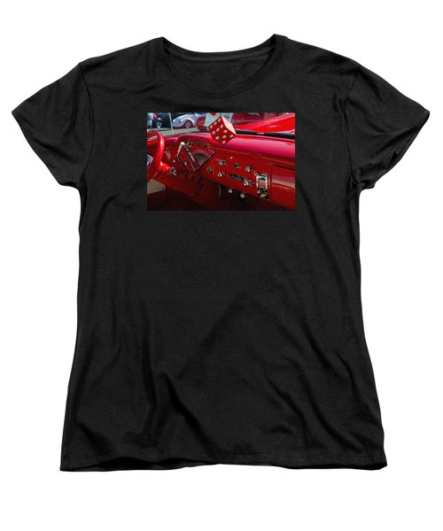 Old Red Chevy Dash Women's T-Shirt (Standard Cut) by Tikvah's Hope