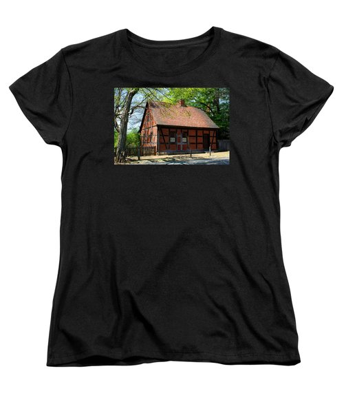 Old Salem Scene 3 Women's T-Shirt (Standard Cut) by Kathryn Meyer