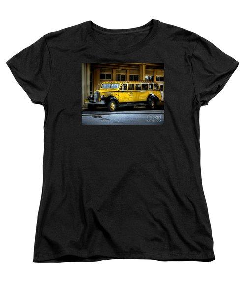 Old Time Yellowstone Bus II Women's T-Shirt (Standard Cut) by David Lawson