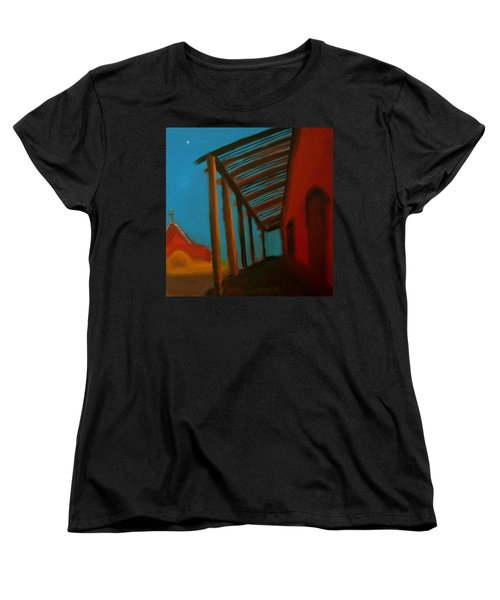 Women's T-Shirt (Standard Cut) featuring the painting Old Town by Keith Thue