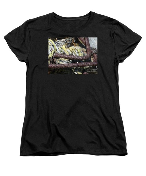Women's T-Shirt (Standard Cut) featuring the photograph Old Trap Close-up by Minnie Lippiatt