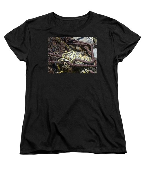 Women's T-Shirt (Standard Cut) featuring the photograph Old Trap  by Minnie Lippiatt