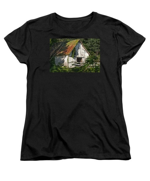 Old Whitewashed Barn In Tennessee Women's T-Shirt (Standard Cut) by Debbie Karnes